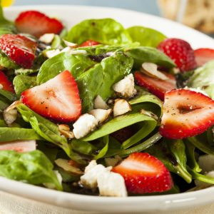 strawberry mixed greens | Bayway Catering