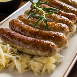 Bayway Catering | Kielbasa and sauerkraut