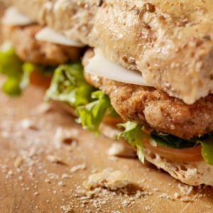 Breaded chicken cutlet sandwich | Bayway Catering | Linden, NJ
