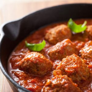Bayway Catering | Meatballs Marinara